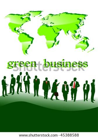 green businesspeople- vector - stock vector