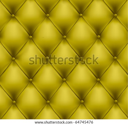 Green button-tufted leather background. Vector illustration. - stock vector