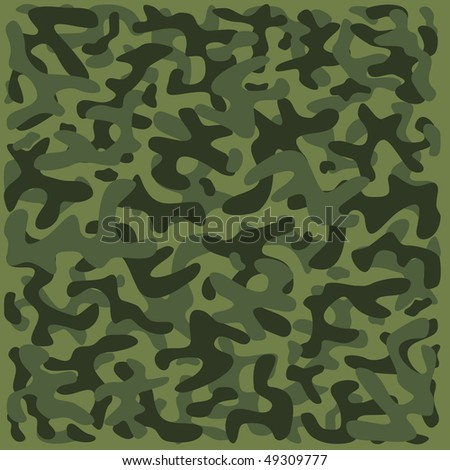 Green Camouflage Pattern - stock vector