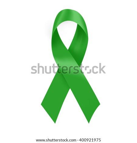 Green Cancer Awareness Ribbon Many Medical Stock Vector Royalty
