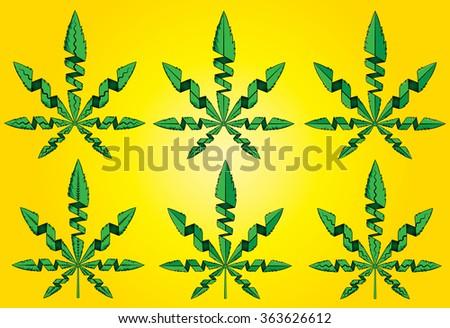 green cannabis marijuana leaf symbol vector illustration - stock vector