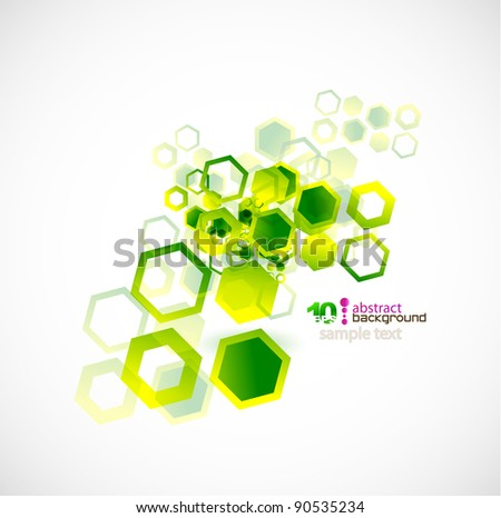 Green cell abstract vector background