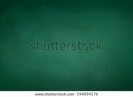 Green chalkboard background. Vector illustration. - stock vector