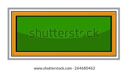 Green Chalkboard Isolated on White Background - stock vector