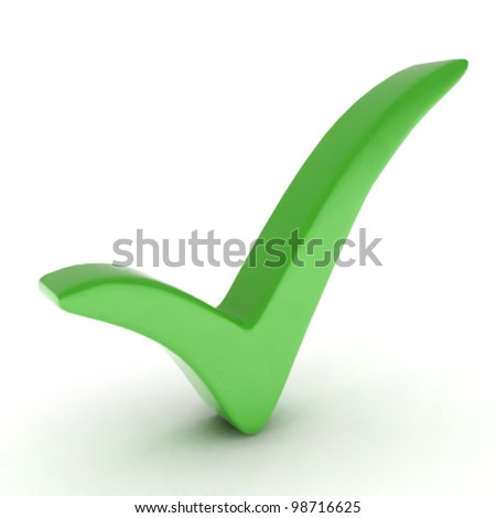Green check mark. Vector - stock vector