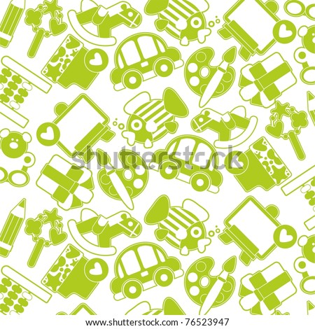 Green Children's texture - stock vector