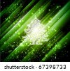 green christmas background - stock vector