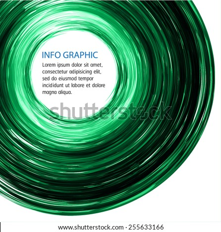 green Circle Abstract Technology background for computer graphic website internet and business. text box. label. Brochure. Roll. card. white background. - stock vector