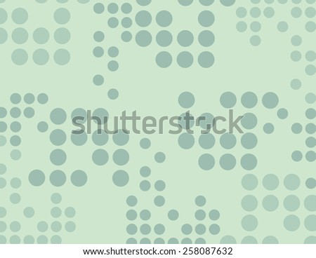 Green circles scattered over green color background  - stock vector
