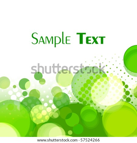 Green circles. Vector