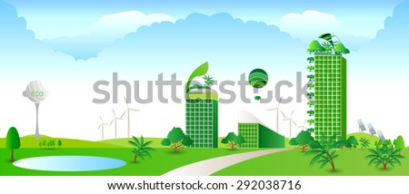 Green  city , green building,eco concept ,Green  project ,