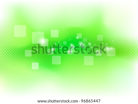 Green clean background - purity. Vector illustration