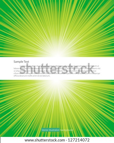 green color burst with free space for sample text in middle. Vector. - stock vector