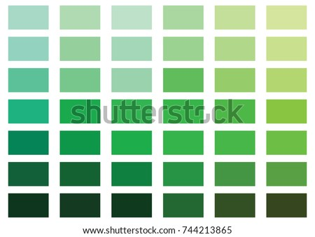 Green Color Palette Vector Illustration Stock Vector 744213865 -  Shutterstock