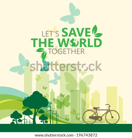 green concept - stock vector