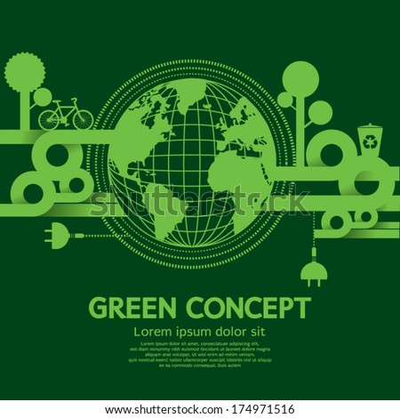Green Concept Vector Illustration - stock vector
