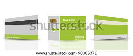 Green Credit Cards Templates - stock vector