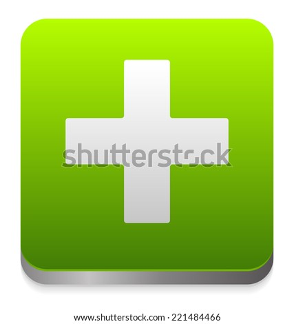 Green cross - stock vector
