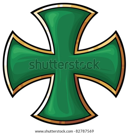 green  cross - stock vector