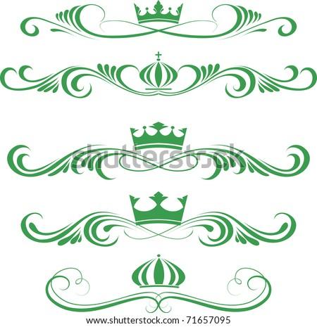 Green Crowns - stock vector