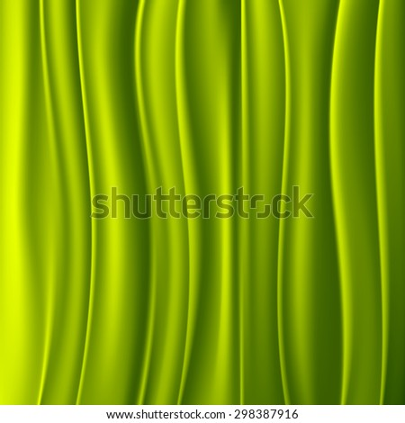 Green curtain background - stock vector