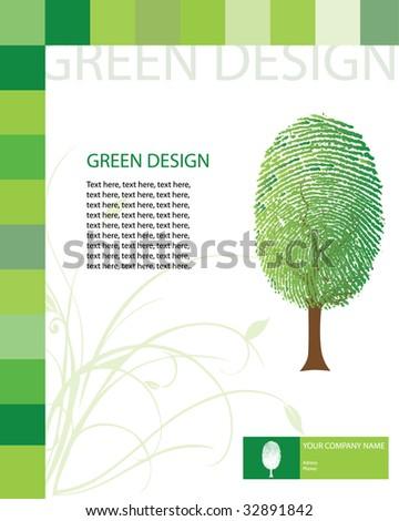 Green design template / vector - stock vector