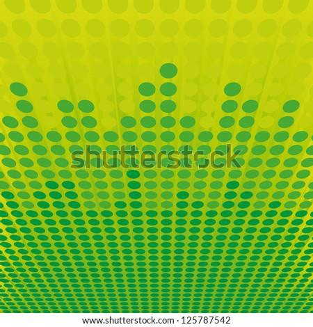 green dot background - stock vector