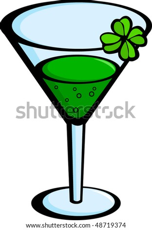 green drink in cup - stock vector