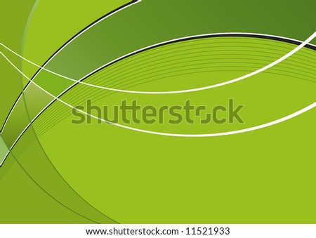 green dynamic wave - stock vector