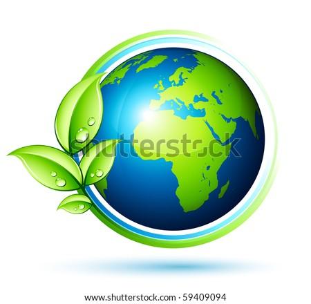 Green Earth Stock Vector (Royalty Free) 59409094 ... Green Earth Logo Vector