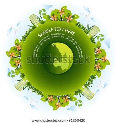 green earth - stock vector