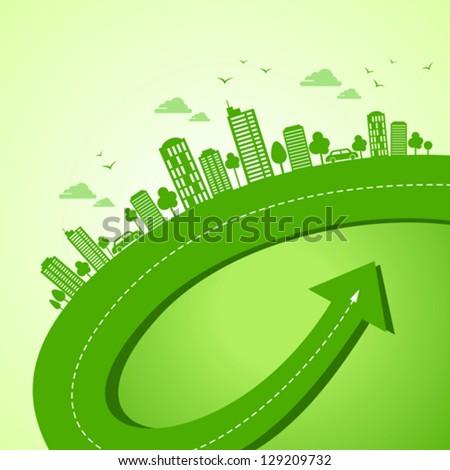 green earth- ecology concept - stock vector