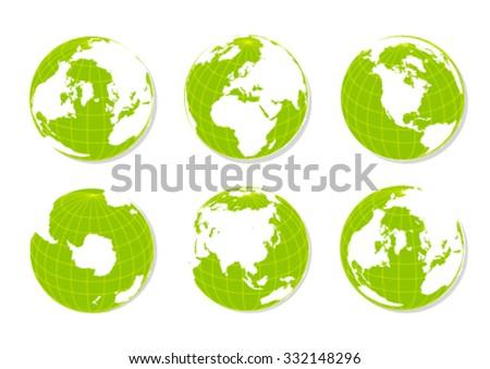 Hands Holding Green Earth Globe Vector Stock Vector 54401230 ...