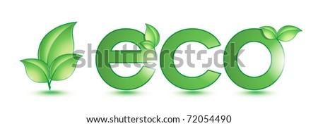 green eco - stock vector