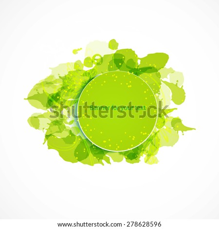 green eco banner for your text - stock vector