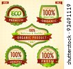 Green eco bio label collection vol. 2 - stock vector