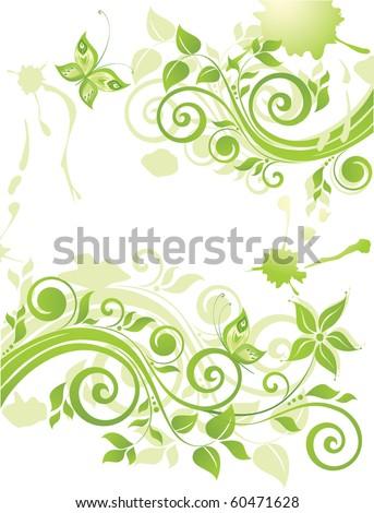 Green eco design - stock vector