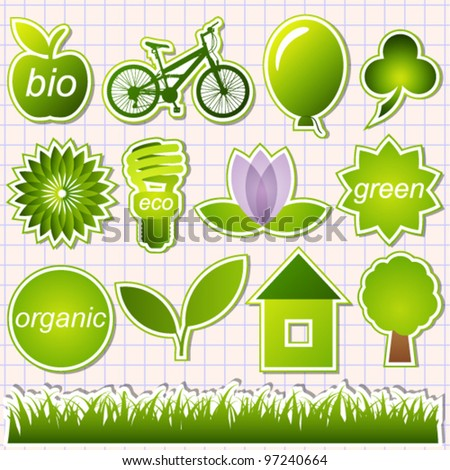 green eco elements vector