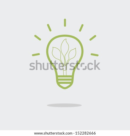 green eco energy concept, plant growing inside the light bulb,eps 10 vector - stock vector