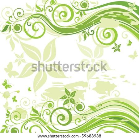 Green eco poster - stock vector