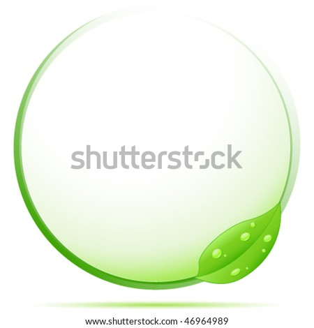 green eco sign - vector illustration - stock vector