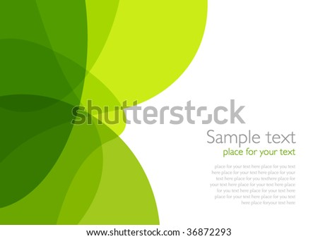 Green Eco-style Background - stock vector