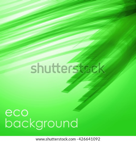 green eco wavy background.vector background.