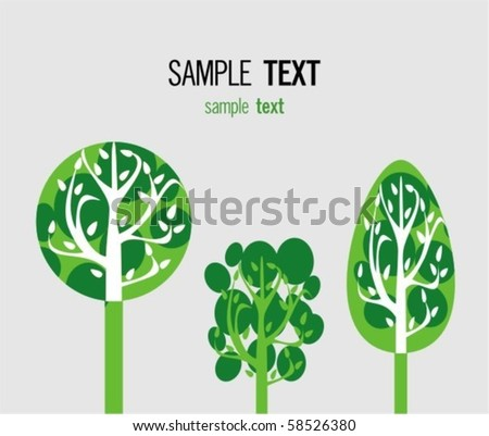 Green eco world - stock vector