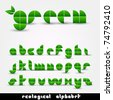 Green Ecological Alphabet - stock vector