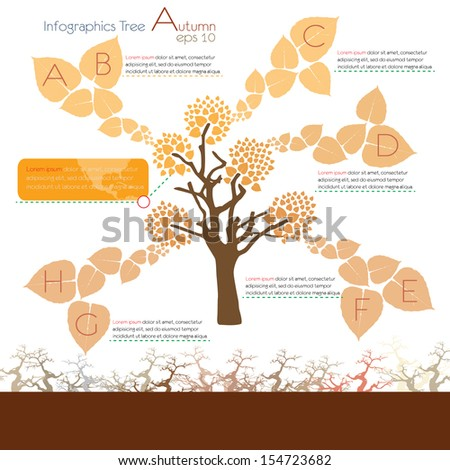 green ecological infographics with tree. infographic concept - stock vector