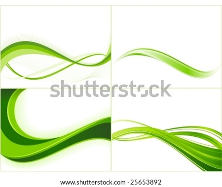 Green ecology wave background templates. Abstract background great for spring, nature or eco themes. - stock vector