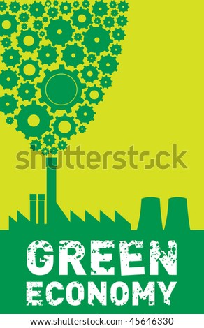 green economy - stock vector