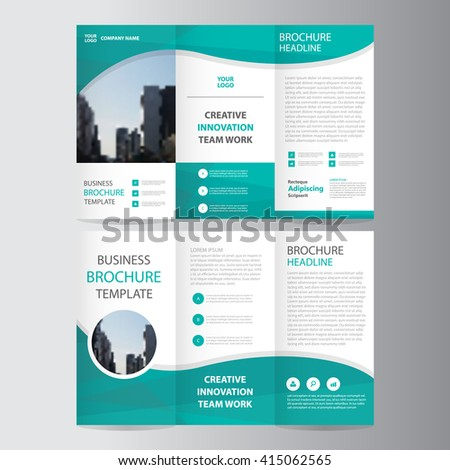 Green elegance business trifold business leaflet stock vector green elegance business trifold business leaflet brochure flyer template vector minimal flat design set wajeb