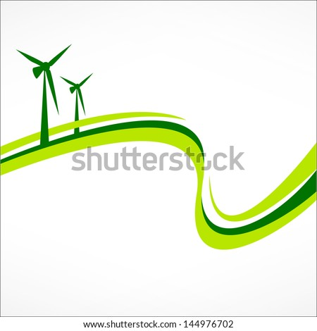 Green energy abstract background. Healthy lifestyle concept - stock vector